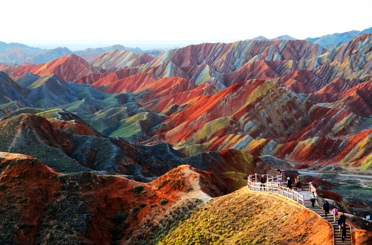 Zhangye Danxia Landform Geological Park in China