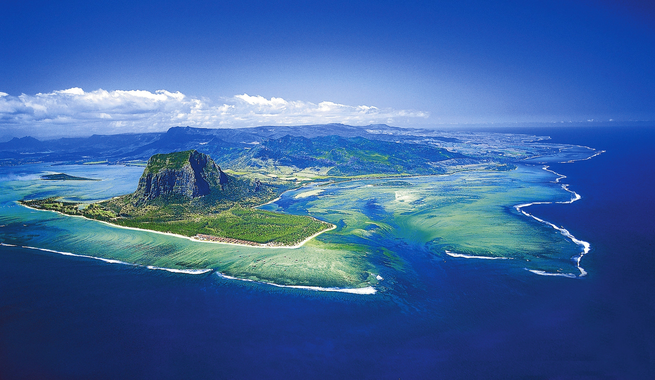 Underwater Waterfall of Mauritius Island