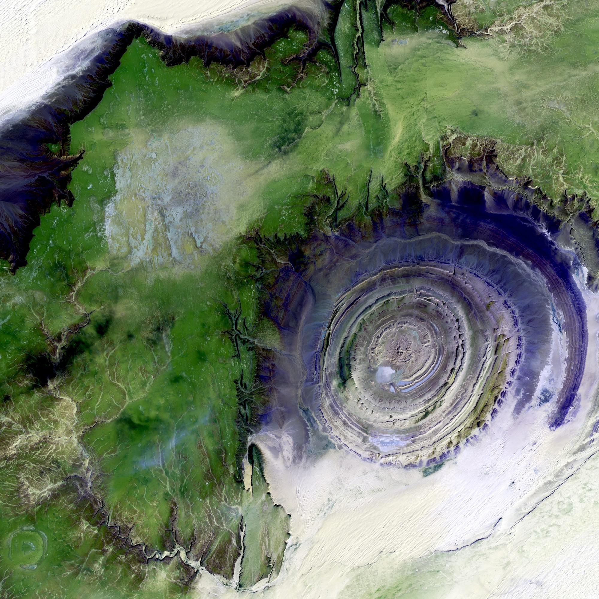 Richat Structure, Eye of The Sahara Desert, Mauritania